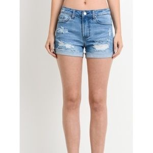 MID RISE DISTRESSED SHORTS by AMOR ADORE  NEW!!